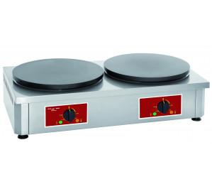Crêpière 2 plaques diametre 400 mm électrique