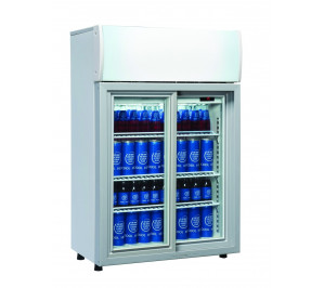Mini armoire vitrine réfrigérée 82 litres blanche