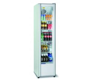 Armoire blanche 1 porte vitrée à boissons & produits frais - 280 litres
