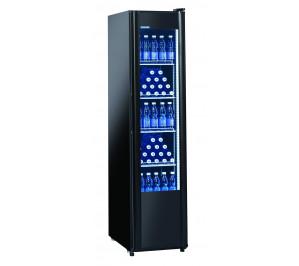 Armoire noire 1 porte vitrée à boissons & produits frais - 280 litres