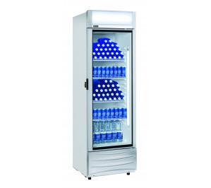 Armoire blanche 1 porte vitrée à boissons & produits frais - 420 litres