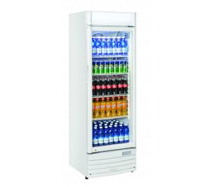 Armoire blanche 1 porte vitrée à boissons & produits frais - 350 litres