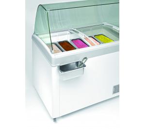 Conservateur de crème glacée 500 litres laque blanc - 12°/-26°c