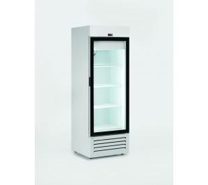 Armoire réfrigérée négative compacte 600 litres 1 porte vitrée laque blanc