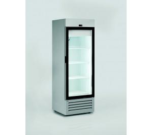 Armoire réfrigérée négative compacte 600 litres 1 porte vitrée aspect inox
