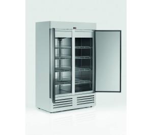 Armoire réfrigérée positive compacte 1200 litres 2 portes pleines laque blanc