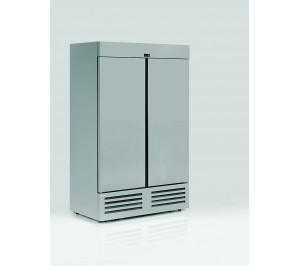 Armoire réfrigérée positive compacte 1200 litres 2 portes pleines aspect inox