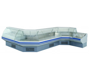 Vitrine réfrigéré ventile angle externe 90° série eco