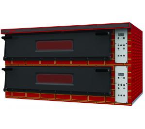 Four à pizza 2x6 pizzas professionel - digital - électrique - 2 chambres 1080 x720 entierement refractaire