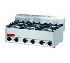 Plan de cuisson gaz 6 feux vifs 6x 4,5 Kw