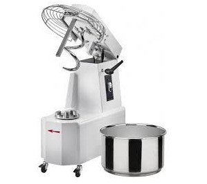 Pétrin à spirale 32 litres - cuve extractible & tête relevable - 2 vitesses
