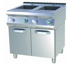 Cuiseur à pâtes électrique sur placard 2 bacs GN 1/1 cap. 2x23 litres