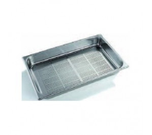 Bac/plaque gastro GN 1/1 perforé 100 mm inox
