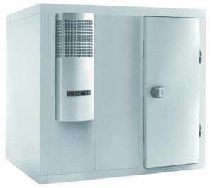 Chambre froide 1440 x 1740 négative - rayonnage et groupe - smart 100 - inclus le rayonnage complet - materiel pro