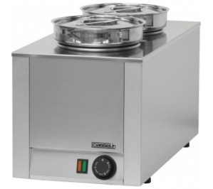 Bain marie à sauce 2 cuves - 400 w / 230 v - l 300 x p 600 x h 350 mm