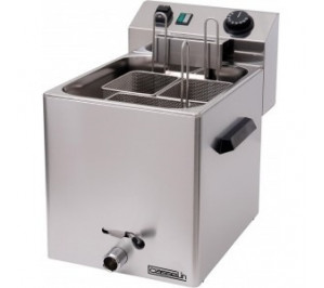 Cuiseur à pâtes électrique - 1 panier - vanne de vidange - 3 400 w / 230 v - l 270 x p 420 x h 300 mm -
