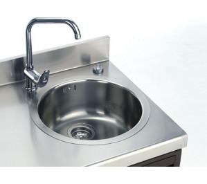 Incorporation d'un bac plonge avec ou sans égouttoir sur gamme l4 (à droite)