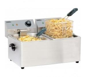 Friteuse électrique 2 x 4 litres - 2 x 2 000 w / 230 v - l 435 x p 400 x h 315 mm - cfe4-2