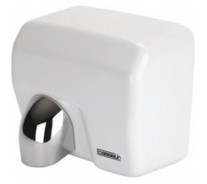 Sèche mains à bec blanc - boîtier anti-vandalisme - 270 m3/h - 2500 w / 230 v - l 270 x p 200 x h 240 mm - cb2blanc