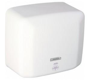 Sèche mains blanc - boîtier anti-vandalisme - 270 m3/h - 2500 w / 230 v - l 270 x p 142 x h 240 mm - c1blanc