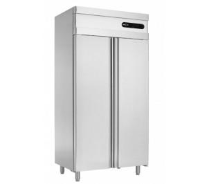 Armoire 2 portes : 1 porte congélation GN 1/1 et 1 porte réfrigération GN 1/1