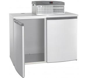 Chambre refroidissement 8/16 fûts/cajots avec groupe réfrigérant avec 2° +8°c