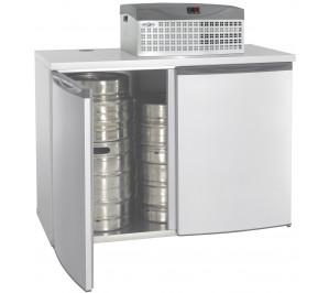 Chambre refroidissement 4/8 fûts/cajots avec groupe réfrigérant avec 2° +8°c