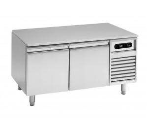 Soubassement réfrigéré 2 tiroirs prof.700 pour plan de cuisson