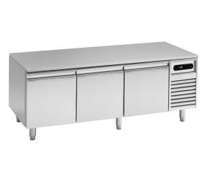 Soubassement réfrigéré 3 tiroirs prof.700 pour plan de cuisson