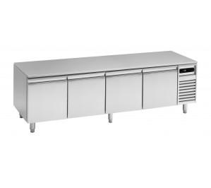 Soubassement réfrigéré 4 tiroirs prof.700 pour plan de cuisson