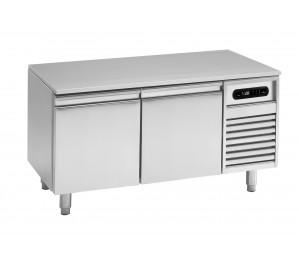 Soubassement réfrigéré 2 tiroirs prof.600 pour plan de cuisson