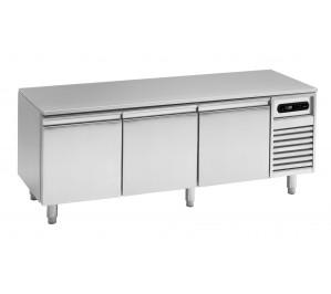 Soubassement réfrigéré 3 tiroirs prof.600 pour plan de cuisson