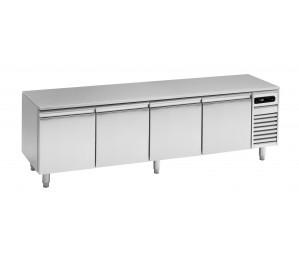 Soubassement réfrigéré 4 tiroirs prof.600 pour plan de cuisson