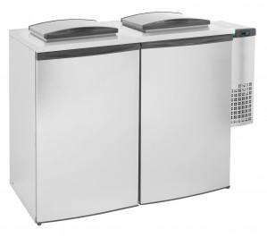 Refroidisseur de déchets double 2x240 litres chambre avec unité de refroidiséement