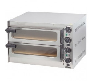 Four à pizza casselin - 2 chambres - 410x370x90mm - 2000w / 230v - acier inoxydable