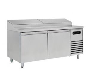"""Table de préparation 2 portes réfrigérée spécial """"sandwich et salade""""-gn 2/1"""