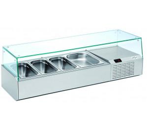 Kit réfrigéré vitré Long. 1320 - capacité bacs GN 1/3