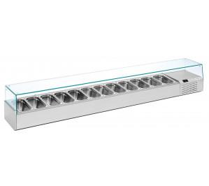 Kit réfrigéré vitré Long. 2625 - capacité bacs GN 1/3