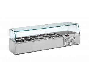 Kit réfrigéré vitré Long. 1320 - capacité bacs GN 1/4