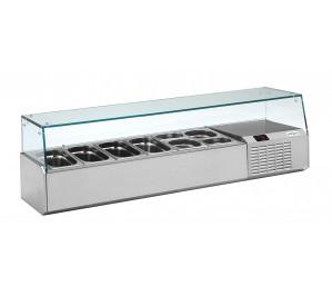 Kit réfrigéré vitré Long. 1470 - capacité bacs GN 1/4