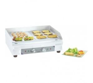 Plaque à snacker électrique premium lisse - rainurée - plaque en acier massif - plaque de cuisson x2: 300x400 mm