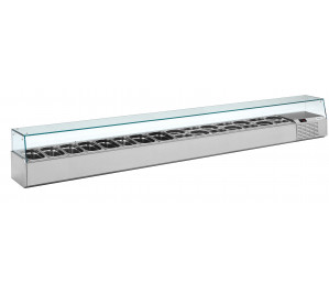 Kit réfrigéré vitré Long. 3000 - capacité bacs GN 1/4