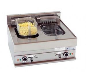Friteuse électrique professionnelle à poser 2 x 10 litres