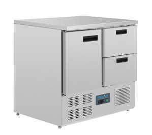 Table réfrigérée 1 portes avec 2 tiroirs GN 1/1 froid positif