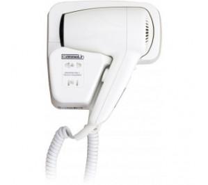 Sèche cheveux avec prise rasoir - capot en abs blanc robuste - 78 m3/h - 1200 w / 220 v - l 153 x p 91 x h 210 mm