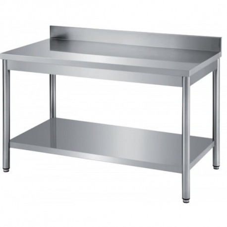 table inox 1200 x 450 x 770 +trou