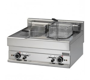 "FRITEUSE 2 X 10 LITRES ELECTRIQUE 18 KW A POSER ""GAMME 700"""