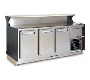 Comptoire de bar Long.. 1380 réserve réfrigérée ventilé