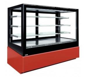 Vitrine d'exposition réfrigérée - chopin - 2 portes - longueur : 1050mm - surface expo : 1.56 - mafirol